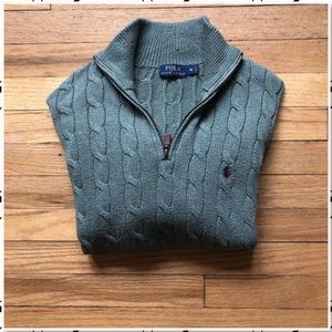 Polo by Ralph Lauren Cable Knit 1/4 Zip Sweater M
